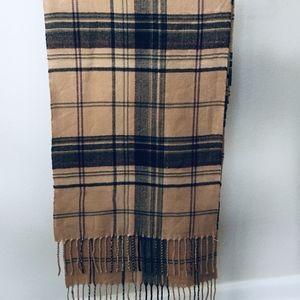 100% Cashmere Scarf Men's or Women's Made Scotland